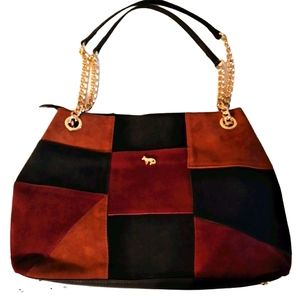 Emma Fox Suede Patchwork Bag